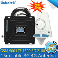 Lintratek 2G 3G 4G GSM Repeater 900 1800 2100 Tri Band Cell Phone Signal Booster LTE 4G cellular signal Amplifier