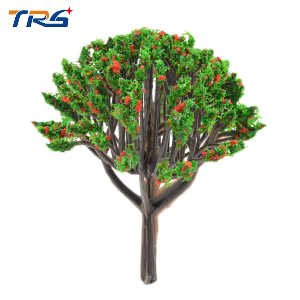 40 80mm Miniature Plastic Tree Model Scale Colorful Tree Train Model ...