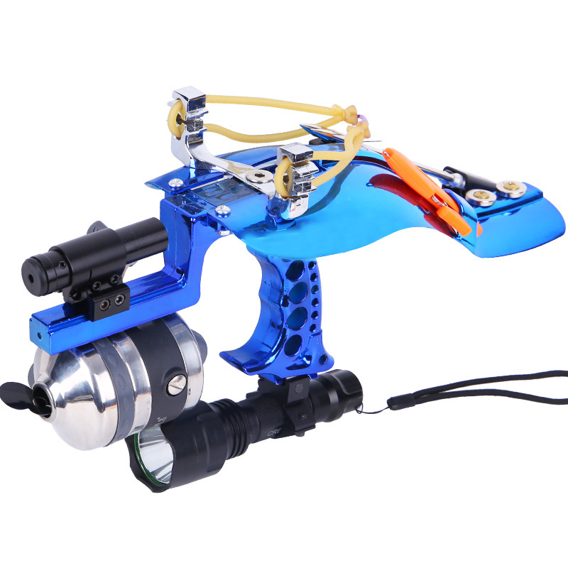 2019 New Powerful Catapult Full Set Fishing Slingshot Laser Slingshot Powerful Fishing Catapult With Fishing Darts Catch Fish in Bow Arrow from Sports Entertainment