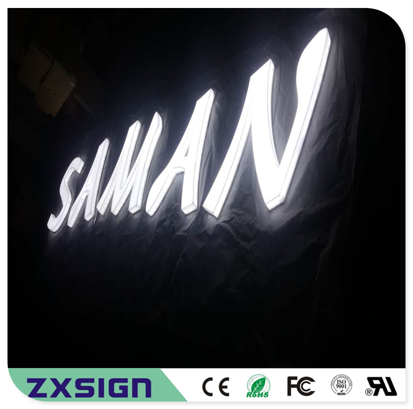 Custom Outdoor Advertising Front Lit & Side Lit Full Acrylic LED Letter Sign