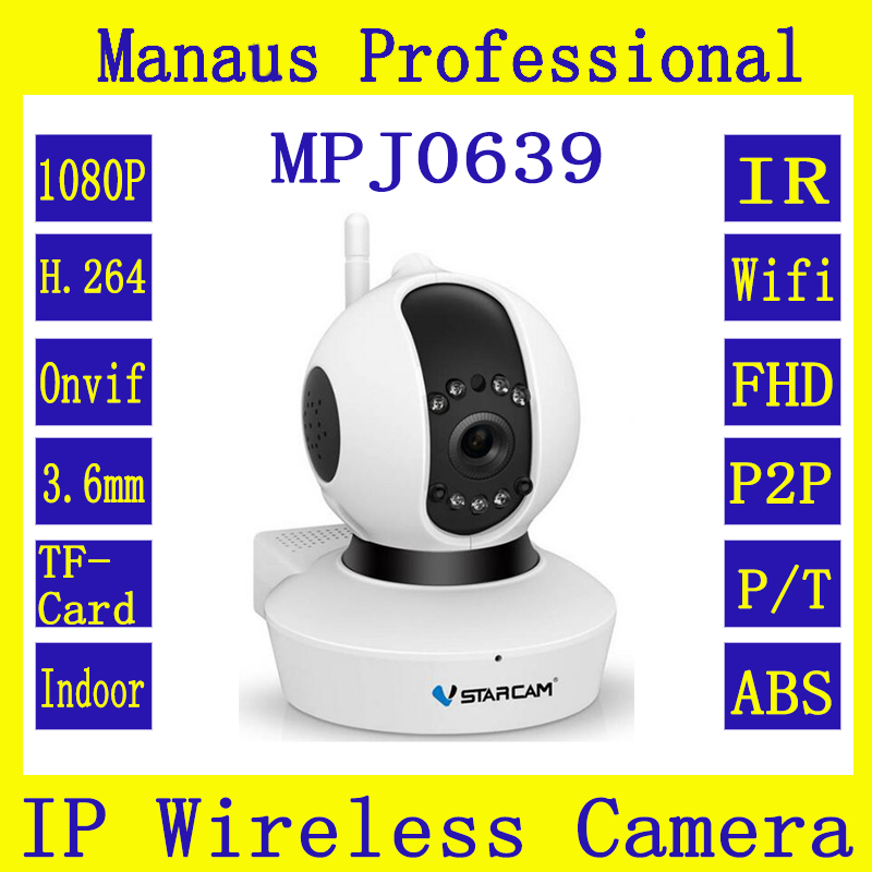 ФОТО High Quality 1080P Wireless IR IP Camera 3.6mm HD Lens Indoor WIFI Smart Home Mobile Remote Surveillance Security Camcorder J639