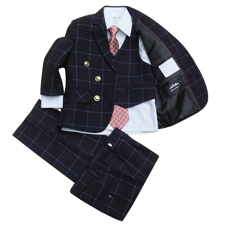 (Jackets+Vest+Pants+Tie+Cravat)Boy Suits Flower girl Slim Fit Tuxedo Brand Fashion Bridegroon Dress Wedding Suits Blazer 03