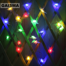 1.5M 3M 6M Battery Butterfly Christmas LED Garland String Lights Wedding Decoration Fairy For Holiday Home Party Lighting
