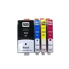 4pcs/set Free shipping remanufacture compatible ink cartridge color 920 XL inkjet printer parts цена 2017