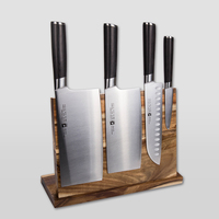 Strong Magnetic Knife Holder Wood Knife Block Stand Dry Anti bacterial Knife Rack Cooking Frame Kitchen Accessories
