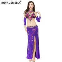 2019 New Arrival fashion belly dance costume sexy belly dancing Beaded tassel belly dance belt&bra&sleeve&&skirt 7113
