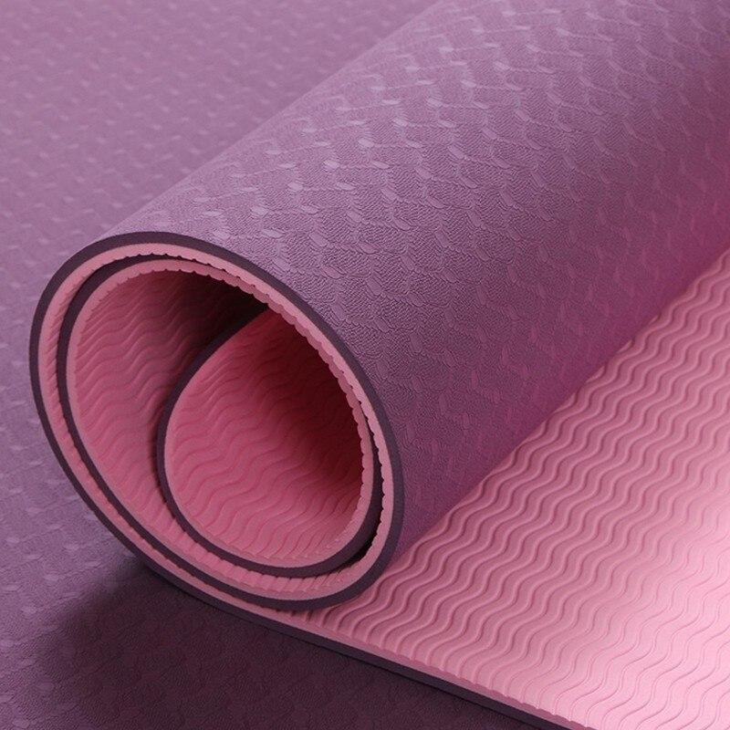 6mm TPE Tapis De Yoga Tapis de Fitness pour Slip-résistant Esterilla Fitness Yoga Tapis Tapis De Gymnastique avec Yoga Sac Tapis De Gymnastique Équilibre Pad