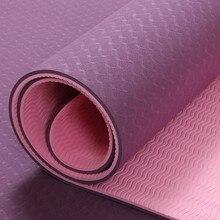 лучшая цена 6mm TPE Yoga Mat Fitness Mat for Slip-resistant Esterilla Fitness Yoga Carpet Gym Mat with Yoga Bag Gymnastics Mats Balance Pad