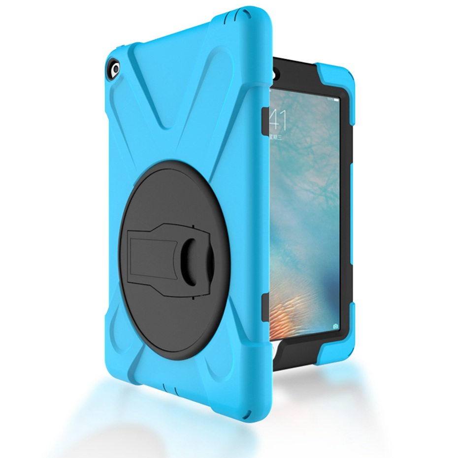все цены на Case for ipad air 2 hand-held Shock Proof full body cover Handle stand sleeve for ipad air 2 case funda capas para ipad air 2 онлайн