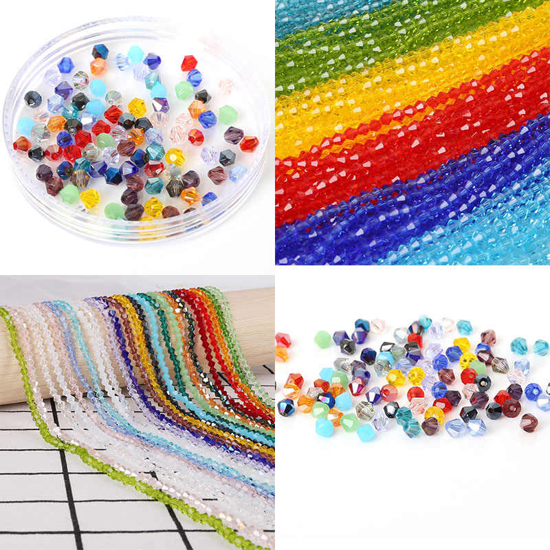 3mm Colorful Glass Beads Charms Loose Round Beads Jewelry Beads for DIY Jewelry Making Necklace Bracelet 145Pcs