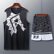 19, спортивная одежда для взрослых, баскетбольная тренировочная майка, набор для мужчин, пустые спортивные костюмы для колледжа, дышащая спортивная баскетбольная форма