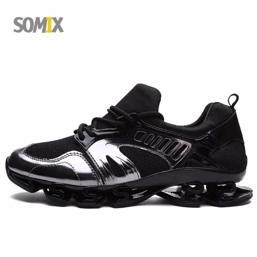 Somix profesionales zapatos corrientes de los hombres al aire libre respirable c