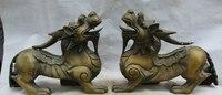 """JP S0524 16 """"Chiński Miedź Feng Shui Wealth Jednorożec Bestia Posąg rzeźba Pi Xiu Para w Posągi i rzeźby od Dom i ogród na"""