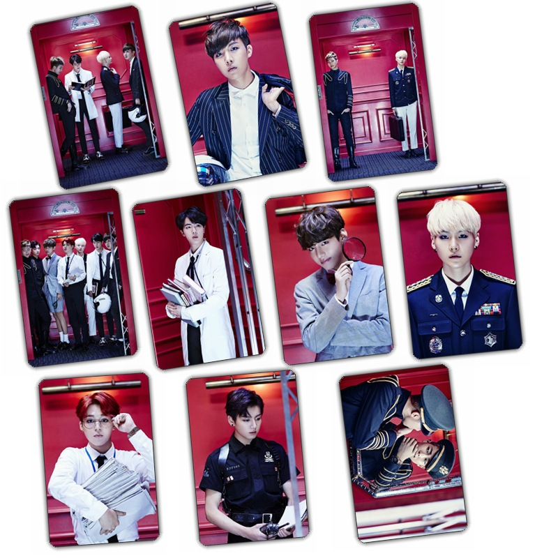 [TOOL]Kpop Bulletproof youth group BTS super concept according to crystal card stickers  10 pcs/set SB18060410
