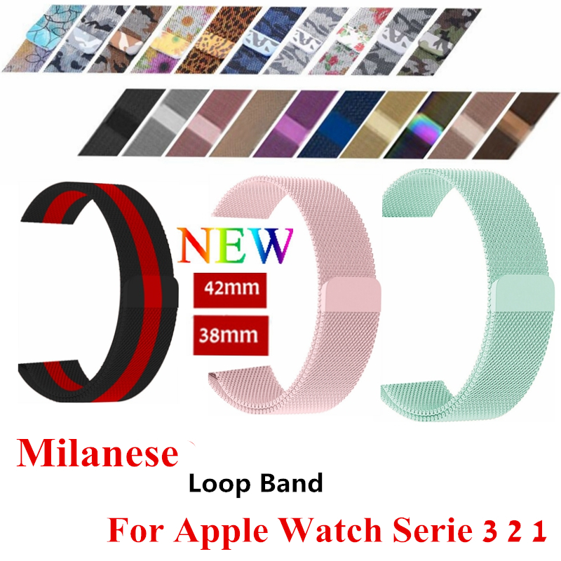 Milanese loop band for apple watch 42mm 38mm Stainless Steel metal strap Bracelet watchband for iwatch series 3/2/1 Accessories milanese loop strap for apple watch bands 42mm for iwatch band 38mm stainless steel metal bracelet mesh watchband serise 3 2 1