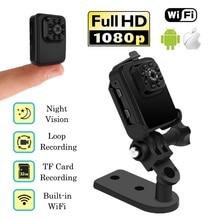 Mini Wi-fi Câmera de Esportes Full HD 1080 P Micro Segredo Nanny Cam DVR Filmadora de Visão Noturna Infravermelha Portátil