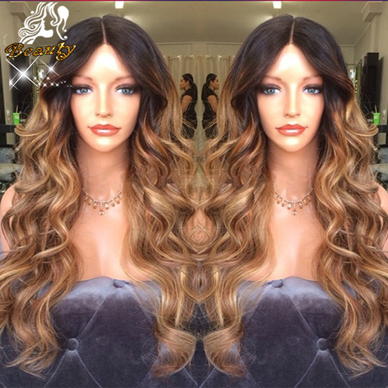 7a Ombre Full Lace Wig Brazilian Body Wave Full Lace Human