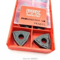 WNMG080404 GM PK6015 WNMG080408 GM PK6015 processamento Profissional de HRC15 HRC32 material de aço/aço de tratamento térmico peças/10 p Ferr. torneam.     -
