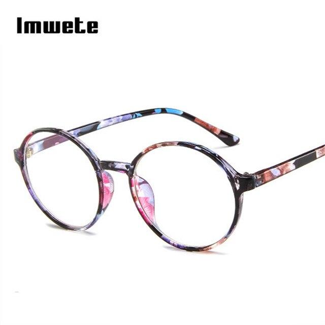 Imwete Women Clear Glasses Frame Men Round Transparent Eyeglasses Frames Vintage Round Clear Lens Optical Spectacles Eyewear