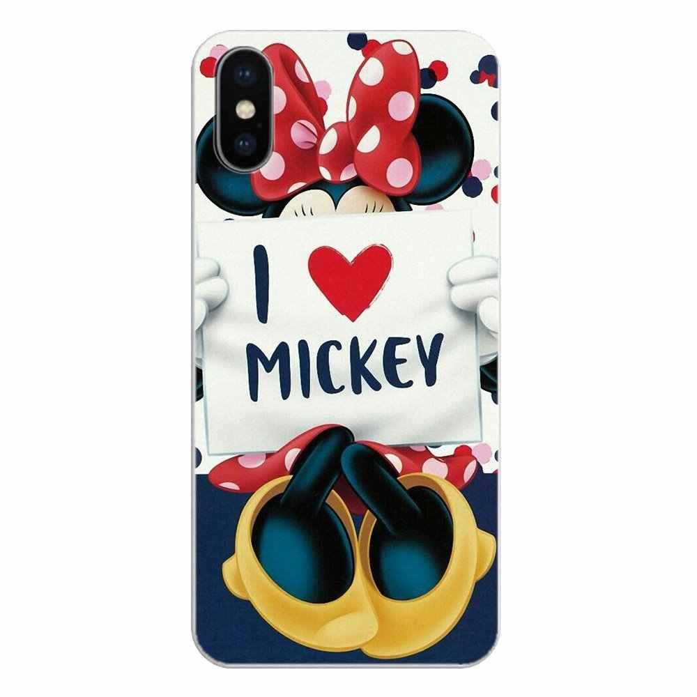 С Микки Маусом Минни Мышь для samsung Galaxy S2 S3 S4 S5 мини S6 S7 край S8 S9 плюс Примечание 2 3 4 5 8 Coque Fundas мягкий чехол кожи
