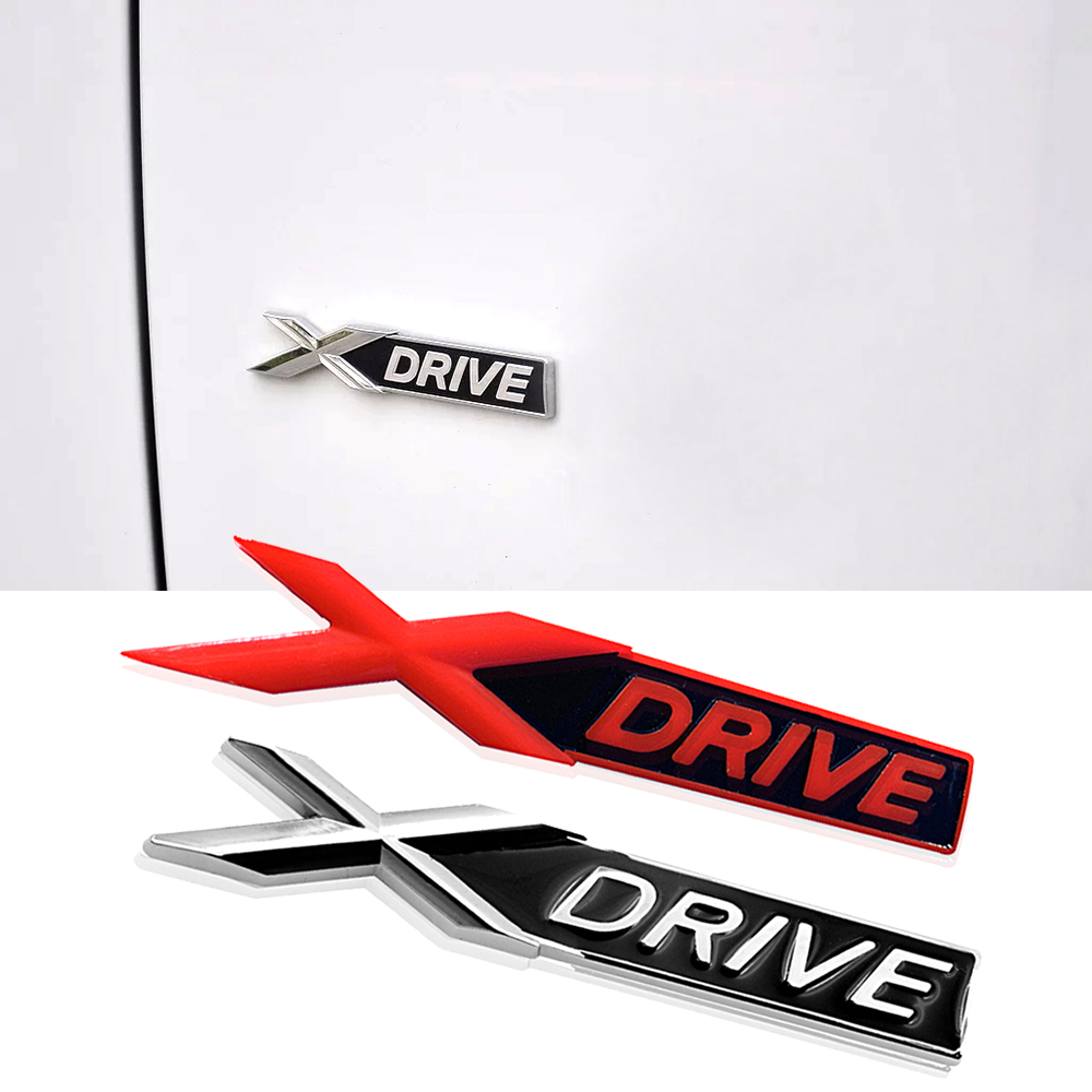 1-50 pcs XDRIVE <font><b>Logo</b></font> Car Trunk Body <font><b>Emblem</b></font> 3D <font><b>Sticker</b></font> Car Styling For <font><b>BMW</b></font> M Performance E30 E91 <font><b>F10</b></font> F20 F30 F01 F11 F31 F34 F07 image