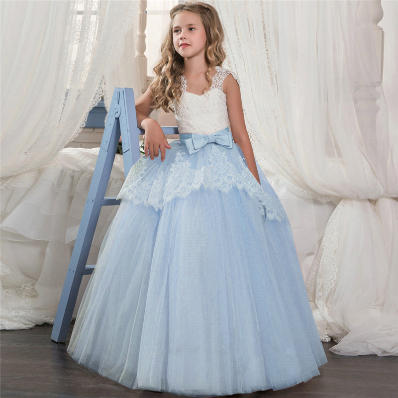 HTB1KT1QRMHqK1RjSZFgq6y7JXXah Vintage Flower Girls Dress for Wedding Evening Children Princess Party Pageant Long Gown Kids Dresses for Girls Formal Clothes