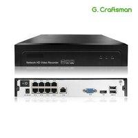 8ch POE 5MP NVR H.265 NVR شبكة مسجل فيديو يصل إلى 16ch 1 HDD 24/7 تسجيل IP كاميرا Onvif 2.6 P2P نظام G. ccraftsman