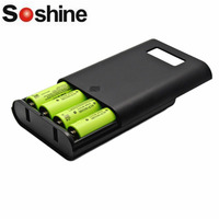 Soshine E3S LCD Display Replaceable Batteries Power Bank Professional Charger For 4 Pieces 16850 Batteries Black