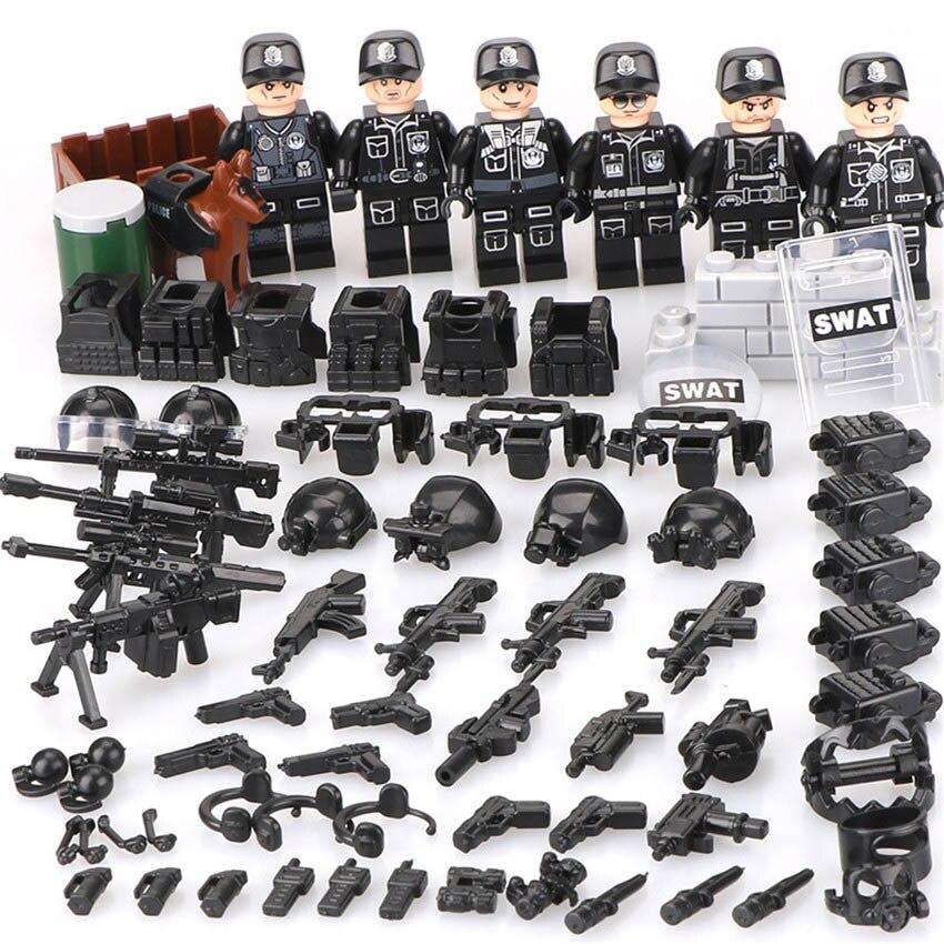 De Construcción Juguetes Fuerzas Policía Niños Especiales Bloques Militar Para Swat BeCxWQdor