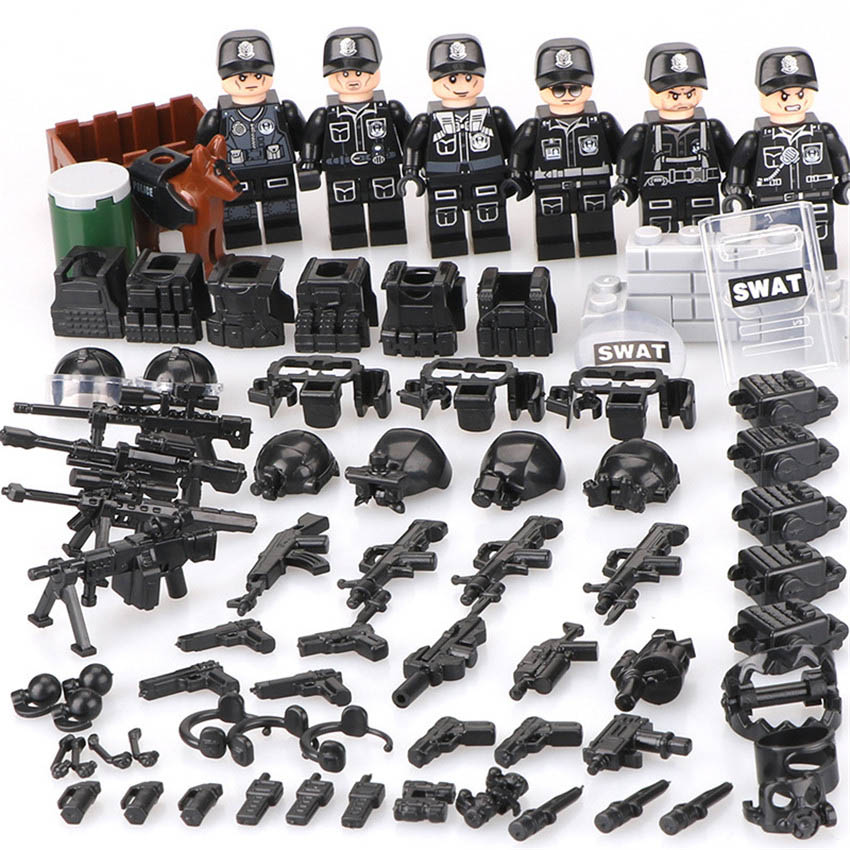 Building Block Kids Toys SWAT POLICE Special Forces Military Marine Blocks Toy Christmas Gift Compatible Military Bricks Toys