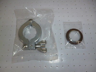 Lot of 4 set Clamp KF25 with KF25 Centering Ring S.S vacuum parts цена