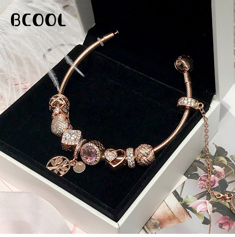 BCOOL Jewelry Female Charm Fashion Silver 925 Original Bracelet, Suitable for Female Crystal Jewelry Bracelet Jewelry GiftBCOOL Jewelry Female Charm Fashion Silver 925 Original Bracelet, Suitable for Female Crystal Jewelry Bracelet Jewelry Gift
