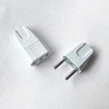 Euro fiş 4.0mm popo elektrik fişi soket güç konektörü kablo kordonu kadın erkek dönüştürücü adaptör 10A 220V