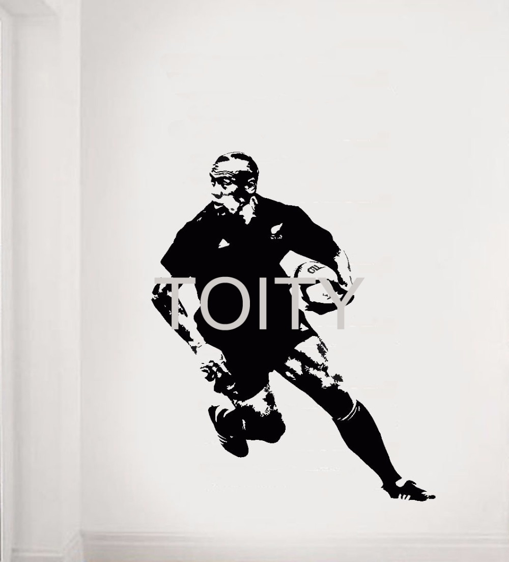 Online kopen wholesale rugby muurstickers uit china rugby for Interieur sport rugby