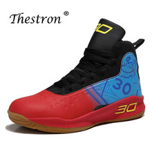 Thestron 2019 Men Basketball Professional Man Sneakers High Top Sport Shoes Sneaker Red White Boots Training Shoe