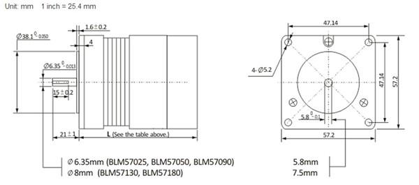 BLM57050-1000+ACS606-BLM57050-1000-Dimension