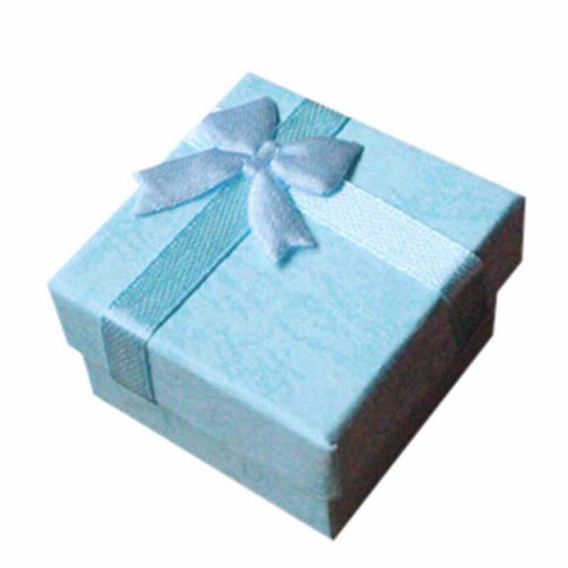 1 Stück 4*4 Cm Hohe Qualität Jewery Organizer Box Ringe Lagerung Box Kleine Geschenk Box Für Ringe Ohrringe 4 Farben!!! Neue Jahr Weihnachten Gut FüR Antipyretika Und Hals-Schnuller