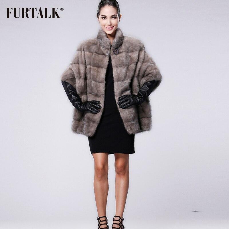 FURTALK العلامة التجارية الروسية الشتاء المرأة ريال الطبيعية فرو منك معطف-في فراء حقيقي من ملابس نسائية على  مجموعة 2