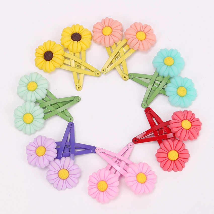 10 Uds Mini pinzas para el pelo de silicona de dibujo animado color caramelos para niñas Clips para el pelo BB de frutas accesorios para el cabello para niños