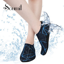 Soumit Summer Beach Shoe Cover Neoprene Breathable Diving Socks Quick Drying Beach Socks Outdoor Water Sports Skid Swimming Sock