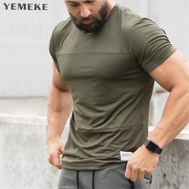 2018 New Fashion T-shirt Brand Clothing Black White Army Green Letter Print Men T Shirt Short Sleeve High Quality Men Clothing