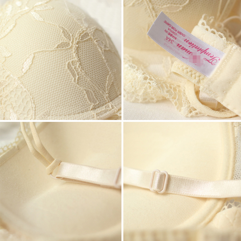 HTB1KT3FbAWE3KVjSZSyq6xocXXaX Push Up Bra Lace Bra And Panty Set Women's Embroidery Deep V Lingerie & Knickers