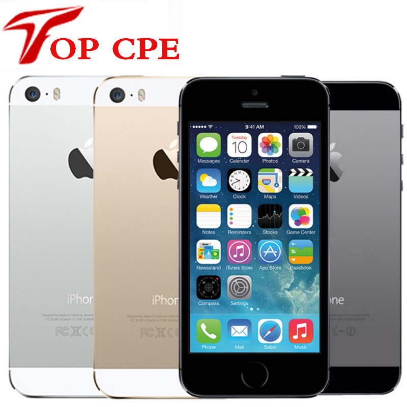 5S Factory Unlocked Original Apple iPhone 5S 16GB 32GB 64GB ROM 8MP Touch ID iCloud App