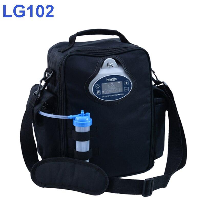(3 tage versand) 2 Stunden Batterie Zeit Lovego Tragbaren Sauerstoff Konzentrator LG102P