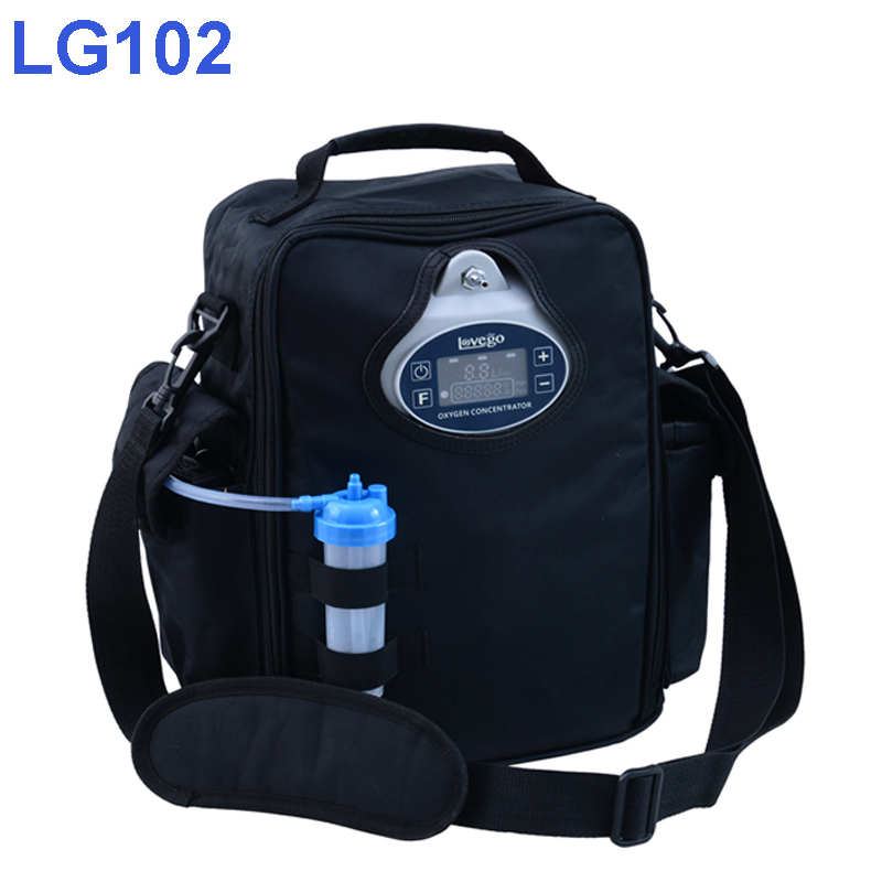 2 órás akkumulátoridő. Lovego hordozható oxigénkoncentrátor LG102P extra akkumulátorral