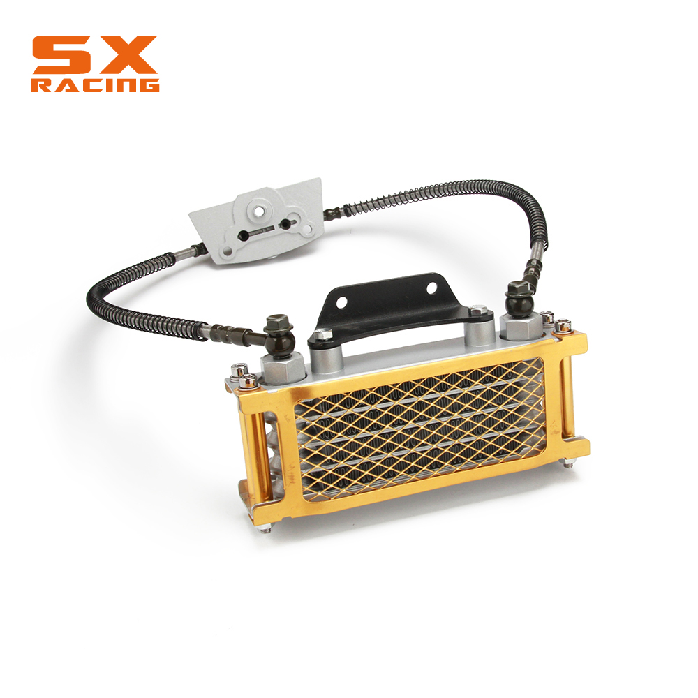 Motorbike Colorful Oil Cooling Radiator Cooler For Loncin Zongshen <font><b>Lifan</b></font> Shineray Yinxiang 50 70 90 <font><b>110CC</b></font> Horizontal <font><b>Engines</b></font> image