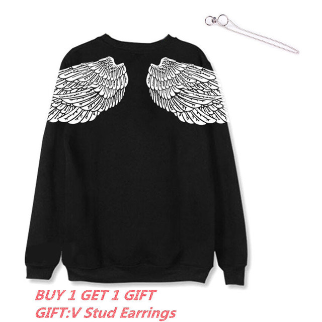 ALLKPOPER KPOP  V Hoodie Bangtan Boys  Hoody Sweatershirt Gift (V Stud Earrings(1pcs))