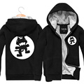 Print Monstercat Rock Band Winter Style Fans Clothing Thickening Punk Velvet Jacket Men And Women Hoodies Sweatshirts Hip Hop