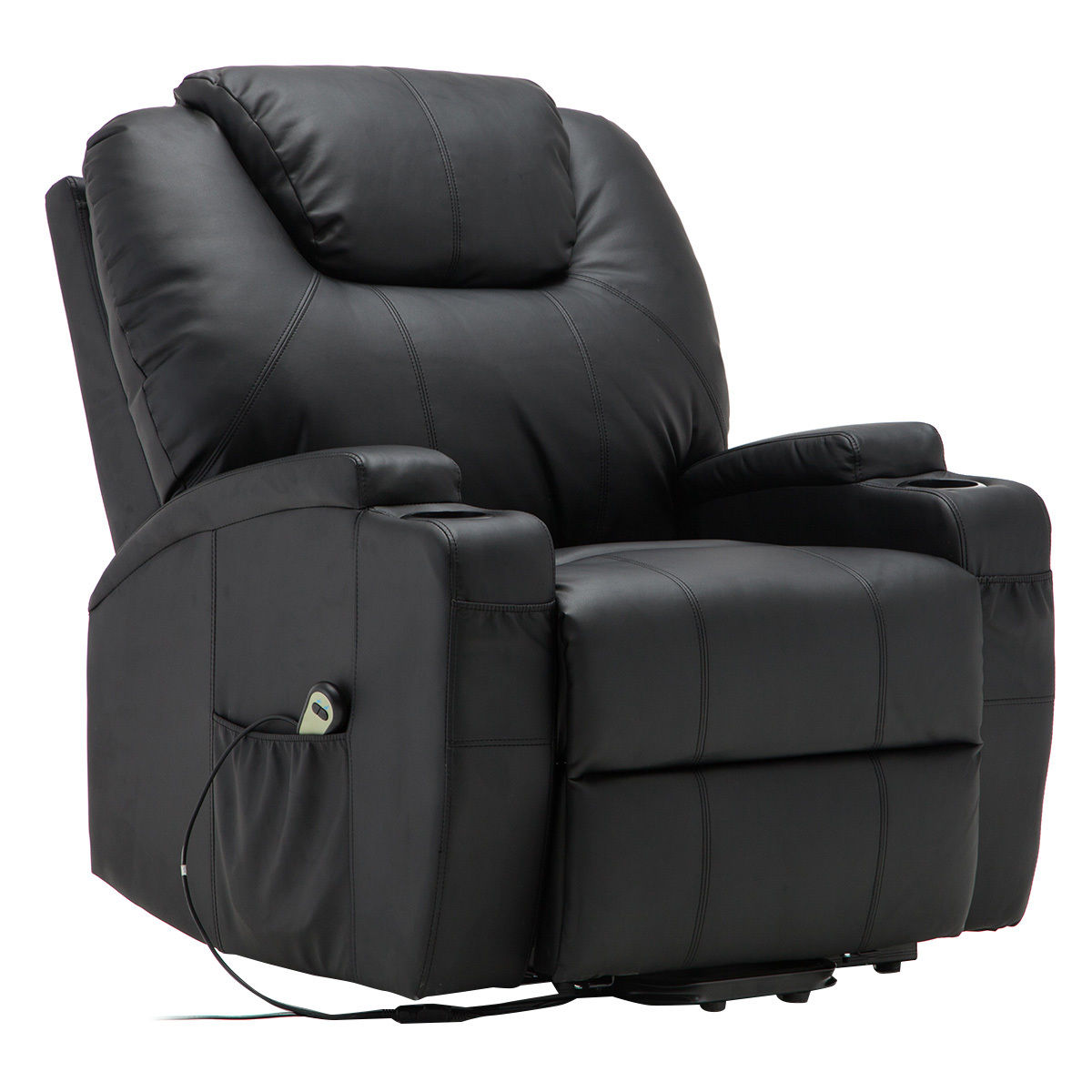 Giantex Electric Lift Recliner Chair Heated Mage Sofa Lounge With Remote Control Chairs Modern Hw53991 In Living Room Sofas From