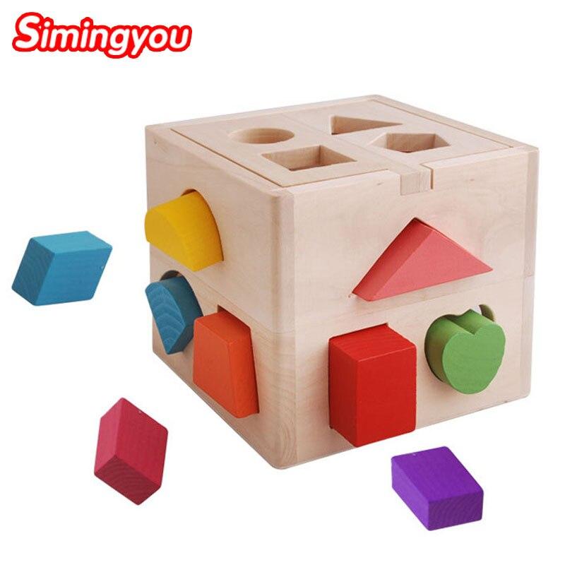 Simingyou Montessori Éducatifs Jouets En Bois Jumelé Puzzle Jouets Pour Enfants A50-DDMO8 Drop Shipping